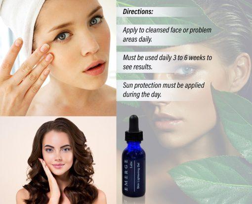 Skin Lightening Serum - Dark Spot Corrector with Kojic Acid For Face & Body - 1oz 1