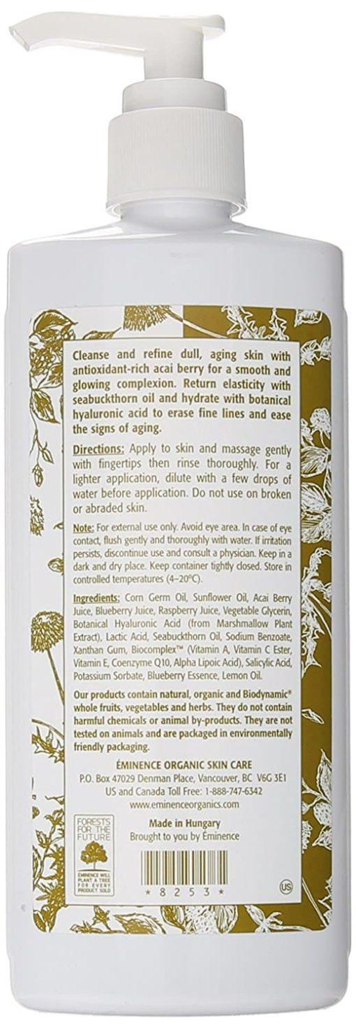 Eminence Organic Firm Skin Acai Cleanser – 8.4 fl. oz. 2