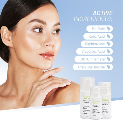 Organic Skin Lightening Cream With SPF 30 1