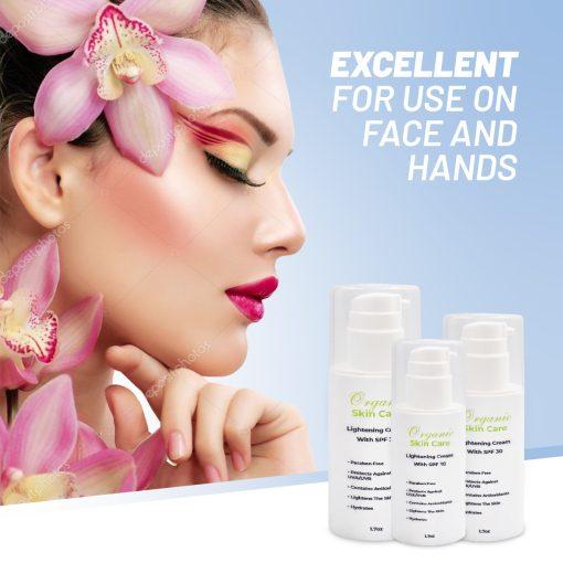 Organic Skin Lightening Cream With SPF 30 3