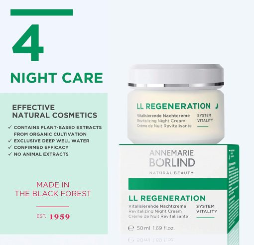 Annemarie Borlind LL Regeneration Night Cream - 1.69oz 1