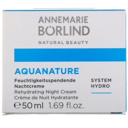 AnneMarie Borlind Aqua Nature Rehydrating Night Cream - 1.69 fl oz 1