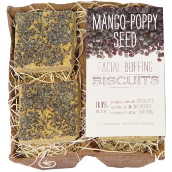 FarmHouse Fresh Mango-Poppy Seed Facial Buffing Biscuits - 4 biscuits 1