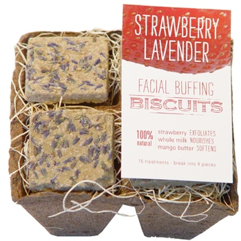 FarmHouse Fresh Strawberry Lavender Facial Buffing Biscuits