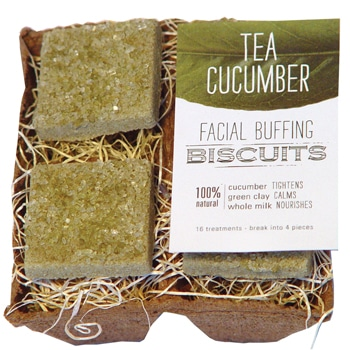 FarmHouse Fresh Tea Cucumber Facial Buffing Biscuits - 4 biscuits 1