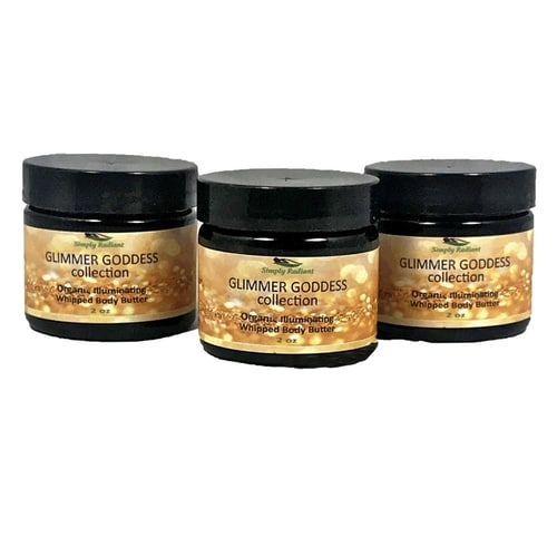 Organic Shimmering Whipped Body Butter Gift Set 1