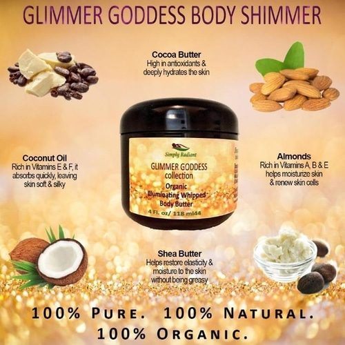 Organic Shimmering Whipped Body Butter Gift Set 6