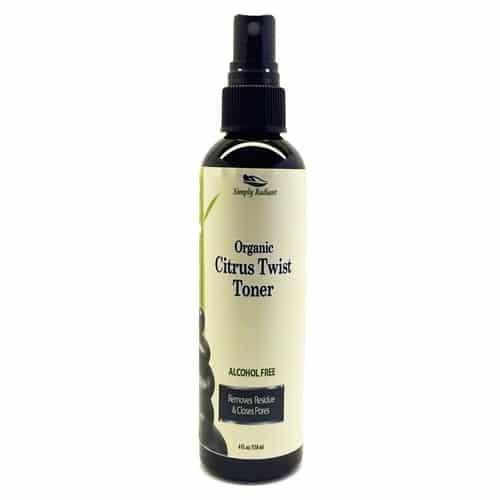 Organic Citrus Twist Facial Toner Mist w/Aloe Vera 1