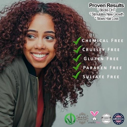 Organic Caffeine + Protein Hair Growth Serum 2
